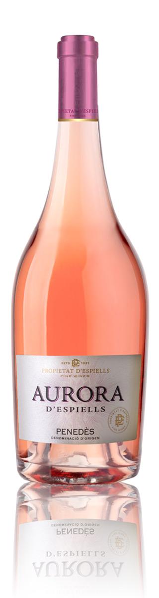 vino rosado propietat d'espiells aurora d'espiells