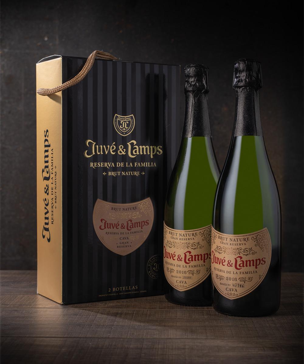 cava reserva de la familia caja tentación 2 botellas