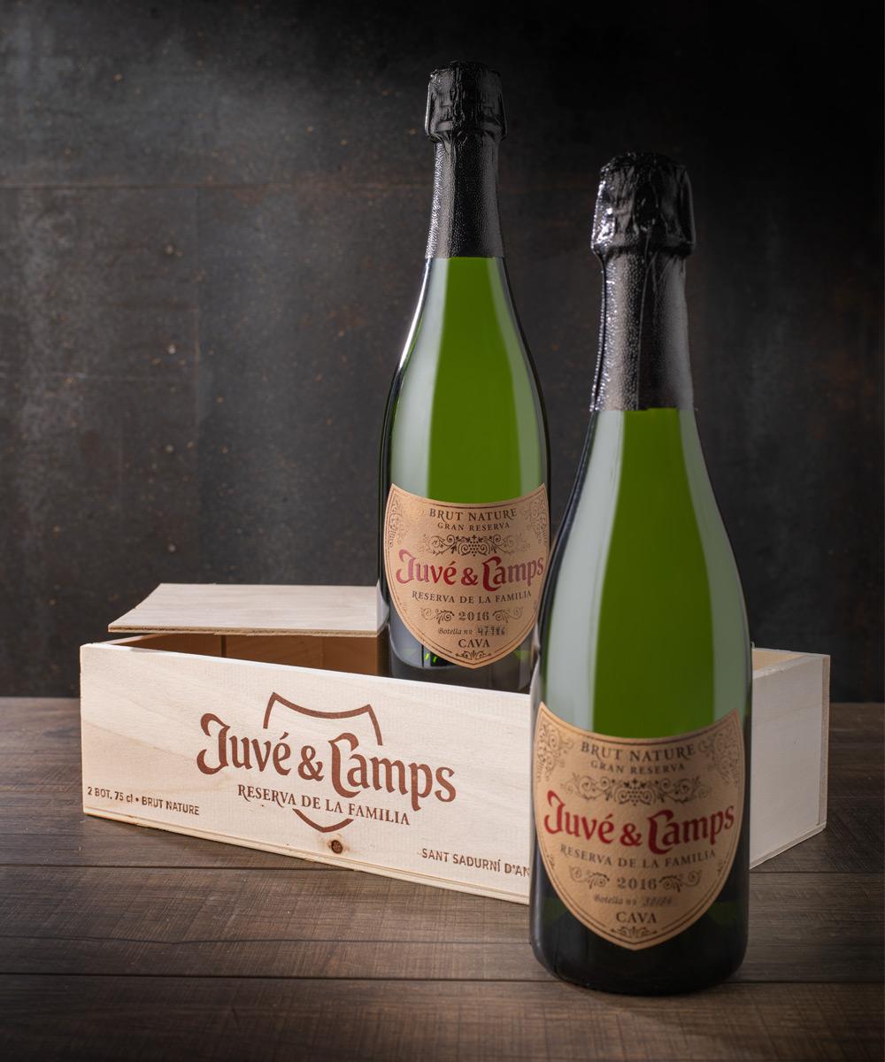 cava reserva de la familia juve y camps 2 botellas pack especial