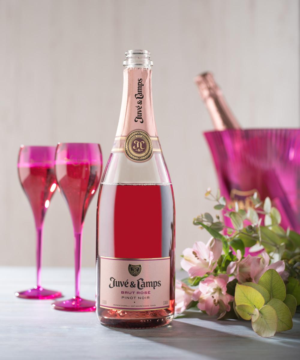 cava rosado brut rosé juvé & camps estuche